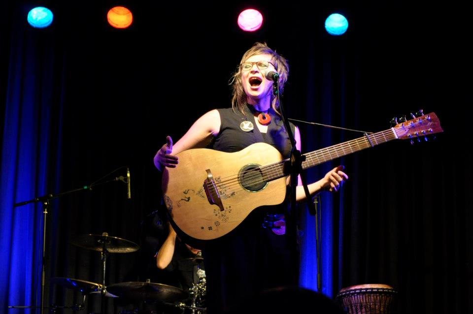 Heather Frahn live at the Be The Change album launch. Photo by Tori Burns.