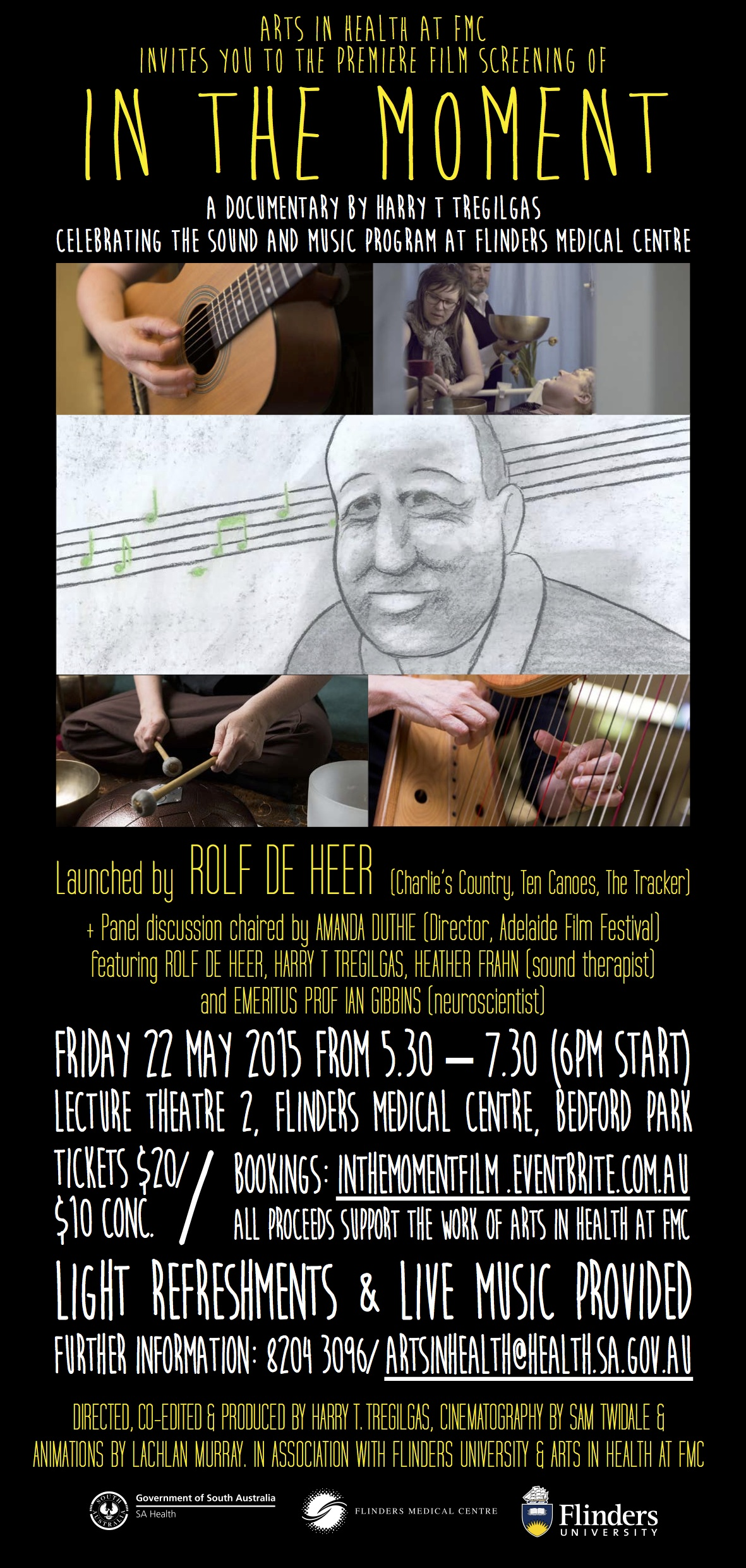"""""""In The Moment"""" Film ~ A Documentary by Harry T Tregilgas ~ Celebrating the Sound and Music program at Flinders Medical Centre"""