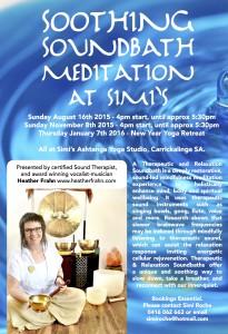 Soundbath Meditation with Heather Frahn at Simi Roche's Ashtanga Yoga Studio, Carrickalinga SA