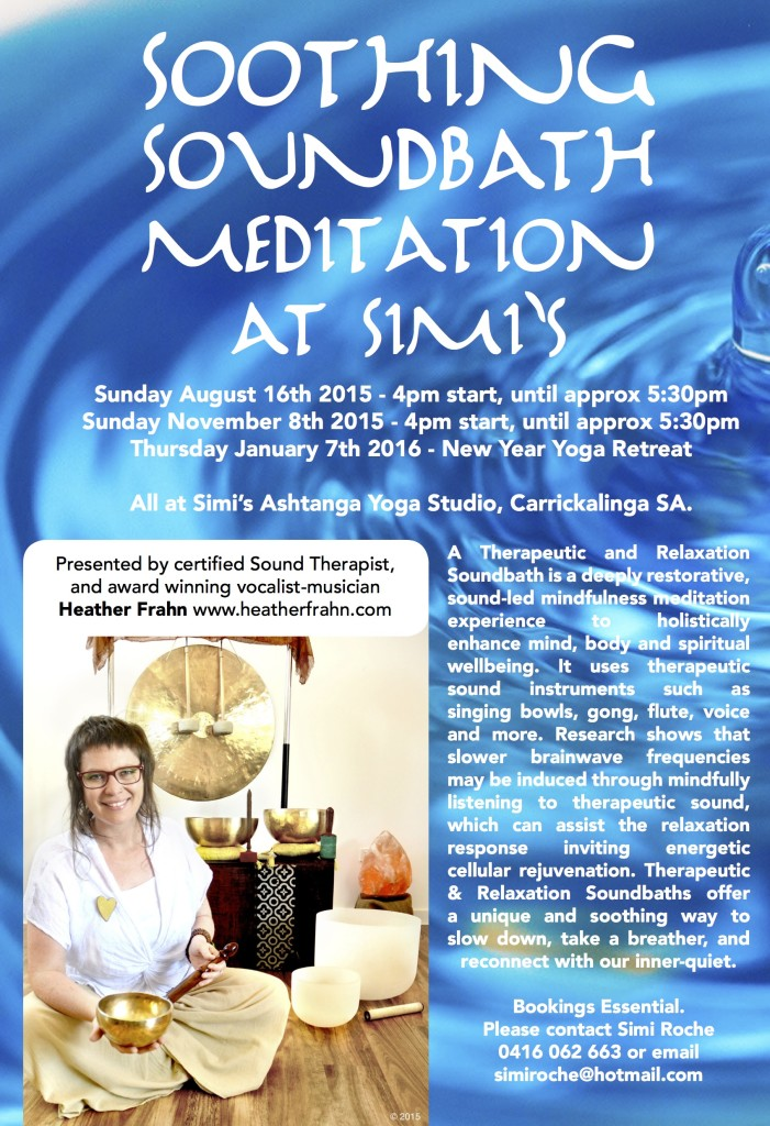 Soundbath Meditations at Simi Roche Yoga Studio