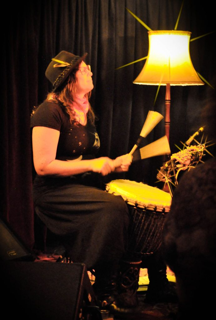 Heather plays guest percussion for Kelly Breuer