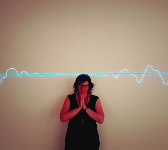Heather Frahn – EL Wire Soundwave artwork titled In The Center