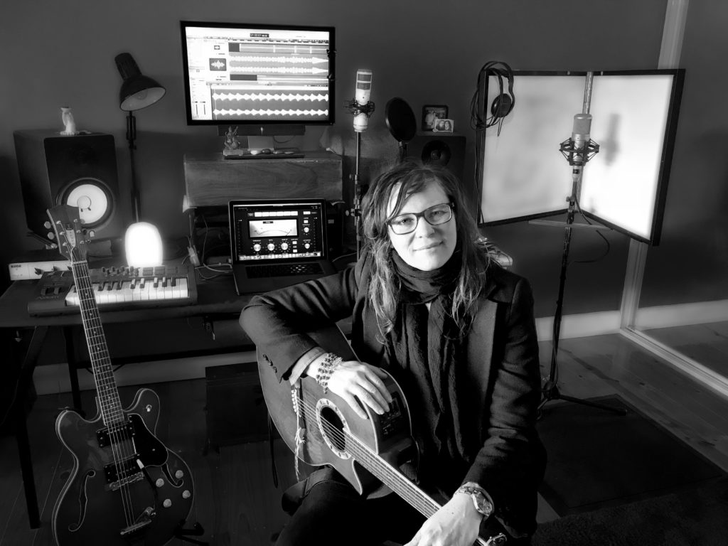 Heather Frahn in her recording studio.
